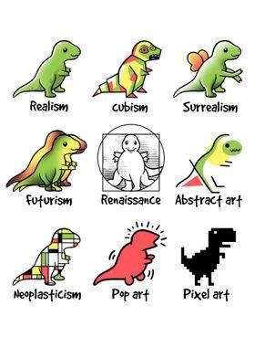 T-rex art styles