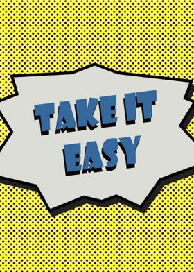 take it easy vintage poster