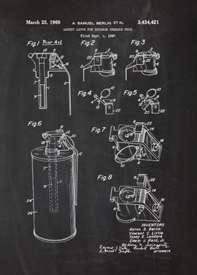 1967 Safety Latch For Bouchon Grenade Fuze -Patent