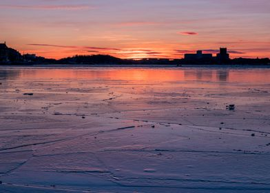 Icy Stockholm Sunset