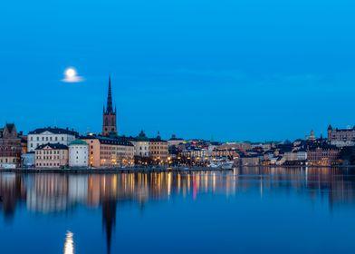 Blue Hour in Stockholm