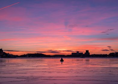 Icy Stockholm Sunset 2