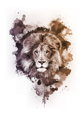 Inked Safari - Dusty Lion