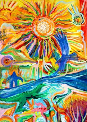 Standing Rock River Sun