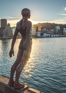 Statue by the harbour