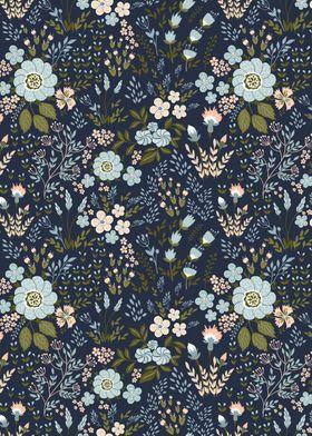 Textile Floral patterns 01