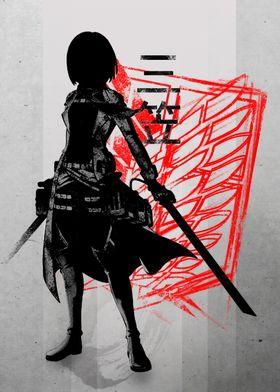 Crimson Mikasa