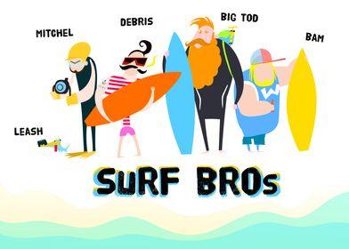 funny surf gang