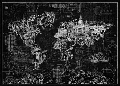 world map blueprint 3