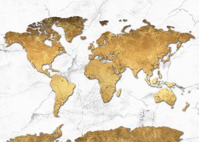 world map gold 3