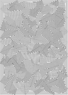 Black on White Line