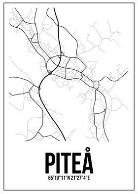Map of Piteå