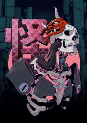 怪 Cyberpunk Skeleton