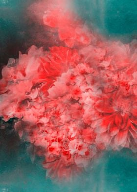 Abstract Red Flowers
