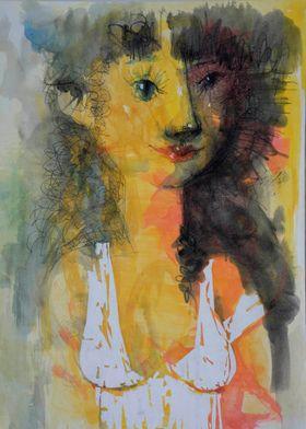 woman62.arrilic,ink,pastel
