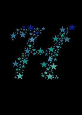H - Blue Stars