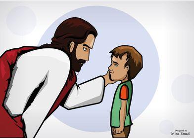 jesus kind to a kid pray d