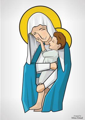 virgin mary holding jesus