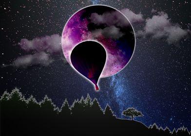 flying under the moonlight