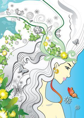 Woman like a Dandelion