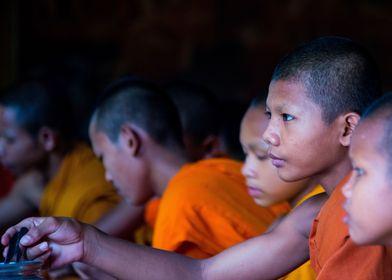 Novice monks buddhisme