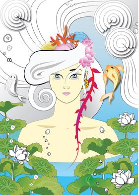 Woman like a lotus