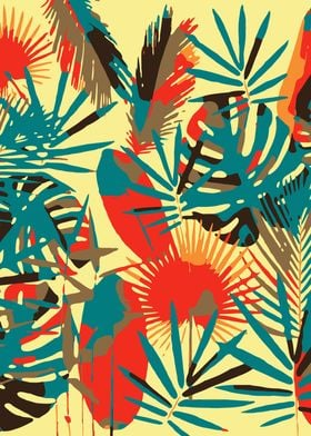 Exotic Leaves Abstract