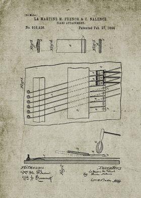 1894 Piano Attachment