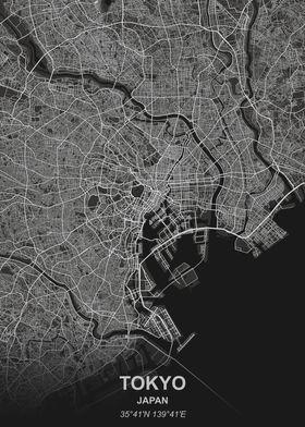 Tokyo Japan city map