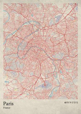 Oldschool Maps Maps poster prints by Rockstone | Displate