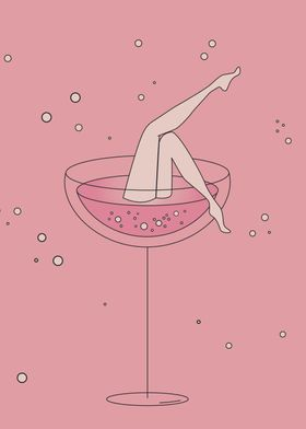 lets drink - pink chmpagne