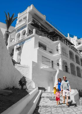 Going to the Beach. Nerja,