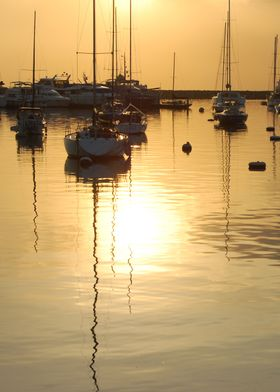 Boats at sunset 4