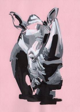 Pink Punk Rhino