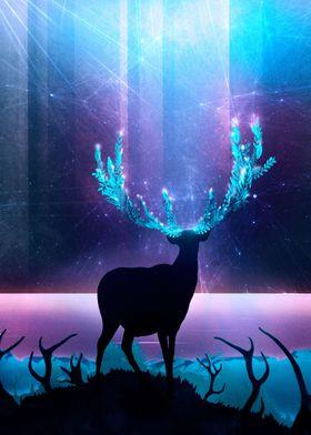 Greenery Deer - Sterling