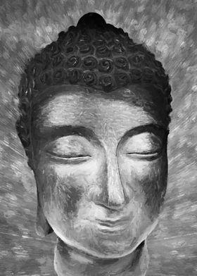 Silver Buddha Head
