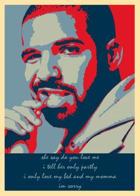 Drake Lyrics Poster