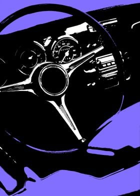 Classic Car Wheel Purple