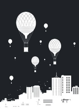 Balloons and the city II