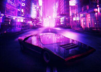 Delorean synthwave future