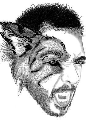 Man Half Wolf