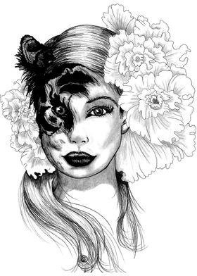 Woman Tiger Face