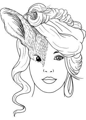 Woman Rabbit Face