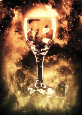 Fire Dice in Glass I