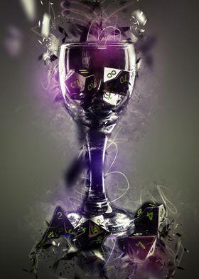 Dark Magic Dice in Glass