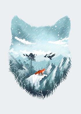 Red Fox on the Wild Winter