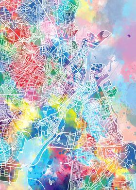 copenhagen city map color