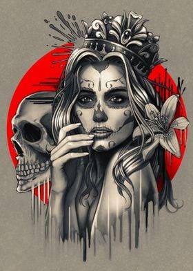 Sugar Skull Queen & Crown