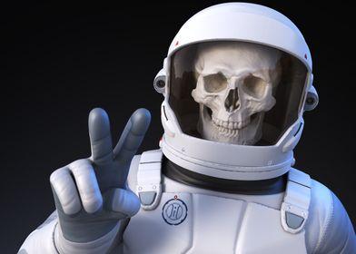 Cheerful spaceman