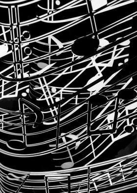 music note sign abstract